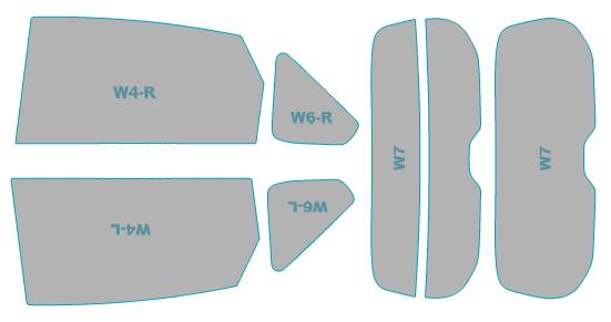 全国一律送料無料 送料無料 カーフィルム カット済み UVカット 紫外線 99%カット トヨタ 供え プリウスα スモークフィルム ZVW4#W型 H23.5-H26.10 ウインドウ 年式 車検対応 業務用 フィルム