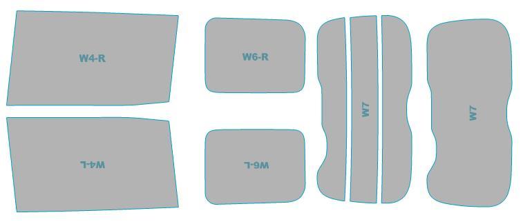 カーフィルム カット済み ウインコス 断熱スモーク トヨタ ヴォクシー ハイブリッド 【ZWR80W型】 年式 H28.1-H29.6 車検対応 業務用 スモークフィルム ウインドウ フィルム
