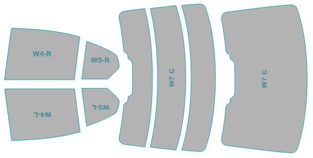 カーフィルム カット済み シルフィード 断熱スモーク BMW 3シリーズ Sedan 【G20型(5F20)】 年式 H31.3- 車検対応 業務用 スモークフィルム ウインドウ フィルム