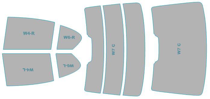 カーフィルム カット済み シルフィード 断熱スモーク BMW 7シリーズ Sedan 【G11型(7A30)】 年式 H27.10-H29.7 車検対応 業務用 スモークフィルム ウインドウ フィルム