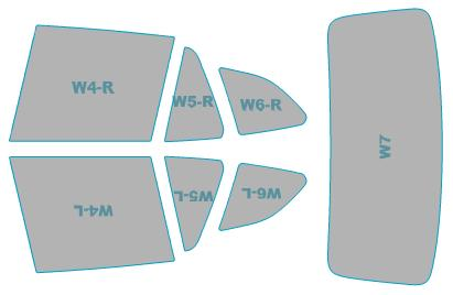 カーフィルム カット済み ウインコス 断熱スモーク BMW X1 年式 H22.4-H24.8 車検対応 業務用 スモークフィルム ウインドウ フィルム
