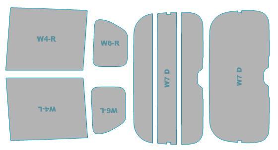 カーフィルム カット済み シルフィード 断熱スモーク ホンダ N-BOX nbox Custom 【JF3型/JF4型】 年式 H29.9- 車検対応 業務用 スモークフィルム ウインドウ フィルム