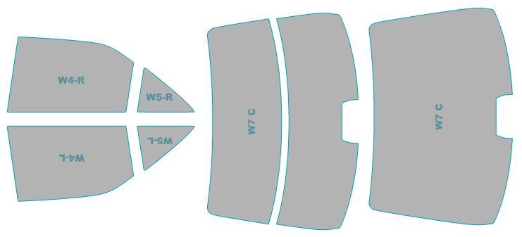 カーフィルム カット済み シルフィード 断熱スモーク ダイハツ アルティス 【Z#72S型】 年式 H24.5-H26.8 車検対応 業務用 スモークフィルム ウインドウ フィルム