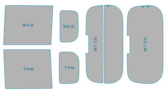 送料無料 カーフィルム 買い物 カット済み UVカット 紫外線 99%カット 出群 ダイハツ タント LA600S型 業務用 スモークフィルム ウインドウ フィルム 年式 車検対応 H28.11-R1.6 LA610S型