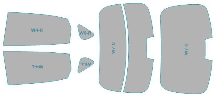 カーフィルム カット済み シルフィード 断熱スモーク 三菱 ミツビシ ディグニティ 【BHGY51型】 年式 H25.7-H29.1 車検対応 業務用 スモークフィルム ウインドウ フィルム