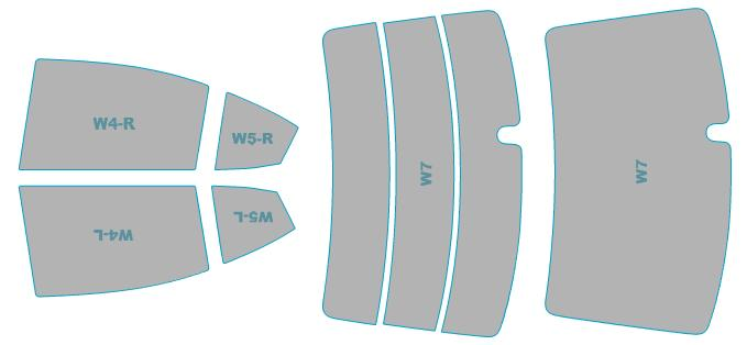 カーフィルム カット済み シルフィード 断熱スモーク スバル WRX 【VAB型】 年式 H26.8-H29.5 車検対応 業務用 スモークフィルム ウインドウ フィルム