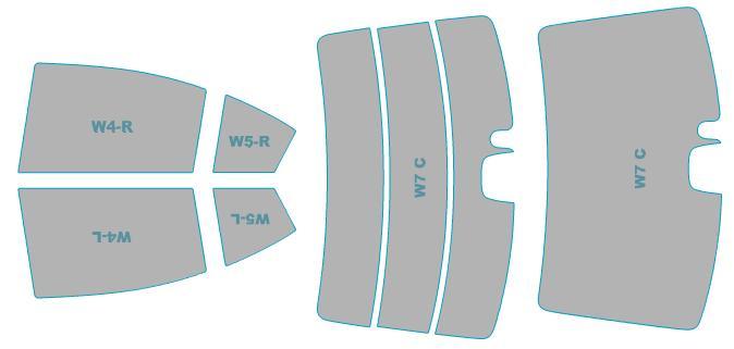 カーフィルム カット済み シルフィード 断熱スモーク スバル インプレッサ G4 【GP#型】 年式 H23.12-H26.10 車検対応 業務用 スモークフィルム ウインドウ フィルム