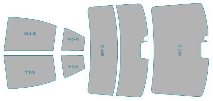 カーフィルム カット済み シルフィード 断熱スモーク スバル レガシィ B4 【BN9型】 年式 H26.10-H29.9 車検対応 業務用 スモークフィルム ウインドウ フィルム