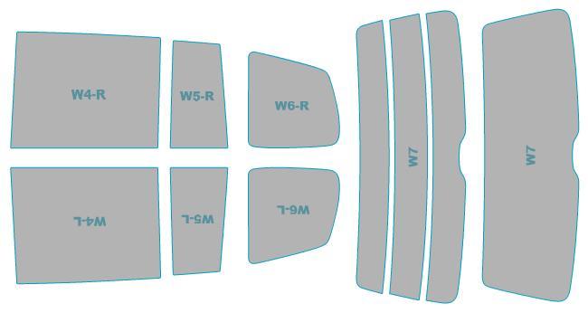フィルム カット済み 年式 【1TCTHW型】 ウインドウ スモークフィルム ウインコス フォルクスワーゲン Touran 断熱スモーク 業務用 車検対応 カーフィルム Cross H24.11-H28.1