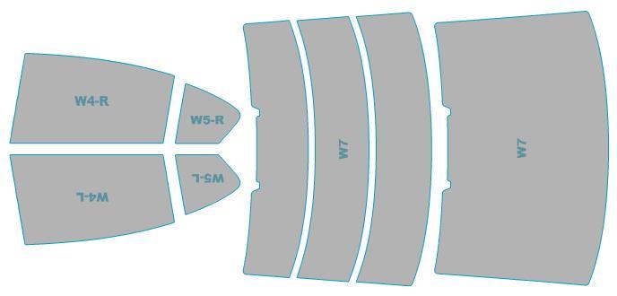 カーフィルム カット済み ルミクールSD UVカット 99%カット フォルクスワーゲン Passat Sedan 【3CCAX型】 年式 H27.7- 車検対応 業務用 スモークフィルム ウインドウ フィルム