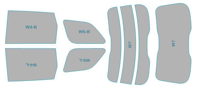 カーフィルム カット済み シルフィード 断熱スモーク ジープ Grand Cherokee 【WK57A型】 年式 H25.11-H29.2 車検対応 業務用 スモークフィルム ウインドウ フィルム