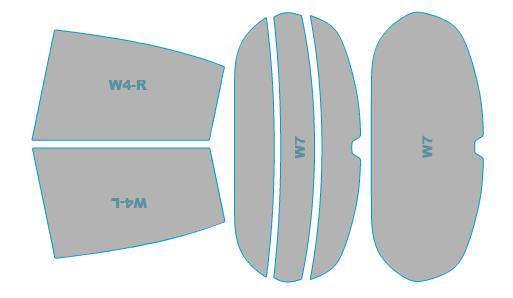 カーフィルム カット済み ウインコス 断熱スモーク プジョー 208 【A9HN01型】 年式 H27.10- 車検対応 業務用 スモークフィルム ウインドウ フィルム