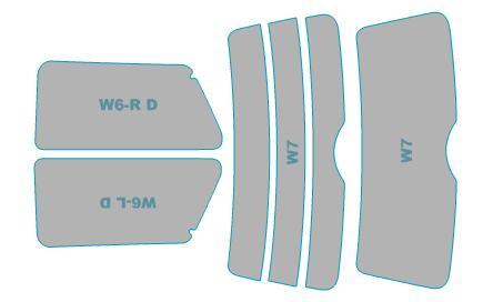 送料無料 カーフィルム カット済み UVカット 紫外線 99%カット ミニ 3 Door スモークフィルム 正規店 RA16 R50型 業務用 フィルム H13.10-H16.8 車検対応 市販 ウインドウ 年式