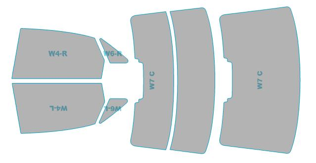 カーフィルム カット済み シルフィード 断熱スモーク アウディ A4 Sedan 【8WCVN型】 年式 H28.2- 車検対応 業務用 スモークフィルム ウインドウ フィルム