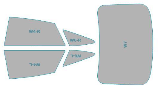 カーフィルム カット済み シルフィード 断熱スモーク アウディ A7 Sportback 【F2DLZS型】 年式 H30.9- 車検対応 業務用 スモークフィルム ウインドウ フィルム