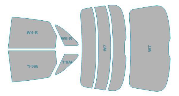 カーフィルム カット済み ウインコス 断熱スモーク アウディ Q3 年式 H24.5-H27.4 車検対応 業務用 スモークフィルム ウインドウ フィルム