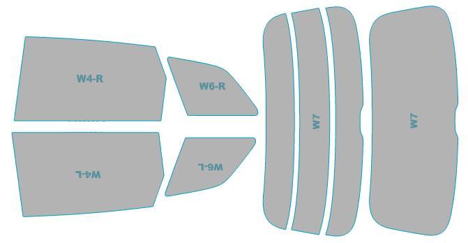 カーフィルム カット済み シルフィード 断熱スモーク アウディ Q7 【4MCRES型】 年式 H28.3- 車検対応 業務用 スモークフィルム ウインドウ フィルム