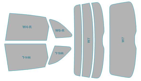 カーフィルム カット済み シルフィード 断熱スモーク アウディ SQ5 【8RCTXF型】 年式 H25.10-H29.9 車検対応 業務用 スモークフィルム ウインドウ フィルム