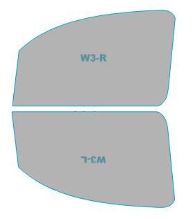 カーフィルム カット済み 運転席 助手席 シルフィード FGR-500 ルノー Kangoo 【KWK4M型/KWH5F型】 年式 H25.8- 車用品 バイク用品 車用品 アクセサリー 日除け用品 カーフィルム 赤外線カット 断熱フィルム