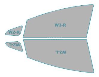 カーフィルム カット済み 運転席 助手席 シルフィード FGR-500 トヨタ プリウスα 【ZVW4#W型】 年式 H23.5-H26.10 車用品 バイク用品 車用品 アクセサリー 日除け用品 カーフィルム 赤外線カット 断熱フィルム