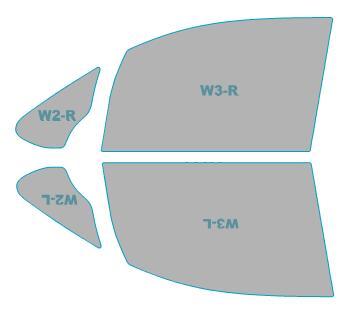 透過率79% ノア トヨタ 助手席 H28.1-H29.6 カーフィルム 【ZRR80W型/ZRR85W型】 カット済み ゴーストオーロラ 運転席 カーフィルム 年式 ゴースト フィルム