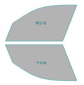 スパッタゴールド 運転席 助手席 カーフィルム カット済み BMW X3 【F25型(WY20)】 年式 H26.6-H29.9 車用品 バイク用品 車用品 アクセサリー 日除け用品 カーフィルム