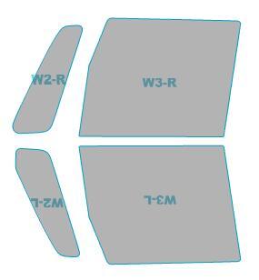 カーフィルム ホンダ Custom 運転席 N-BOX+ 透過率79% 助手席 【JF1型/JF2型】 フィルム 年式 ゴースト カット済み ゴーストオーロラ カーフィルム H27.2-H29.8