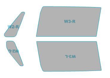 送料無料 ゴースト カーフィルム 透過率79% 運転席 アウトレット 助手席 カット済み ホンダ JF1型 H26.12- N-BOX SLASH 国内送料無料 ゴーストオーロラ フィルム 年式 JF2型