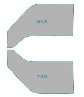 4ドア カット済み ゴーストオーロラ 【SKP2V型/SKP2M型】 カーフィルム カーフィルム ゴースト 運転席 助手席 マツダ フィルム 年式 バン 透過率79% ボンゴ H14.8-