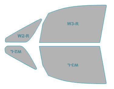 ゴースト カーフィルム 透過率79% 運転席 助手席 カット済み 三菱 フィルム デリカD:5 CV5W型 H22.1-H30.3 お気に入り ゴーストオーロラ 年式 激安格安割引情報満載