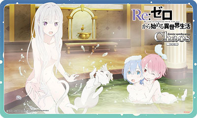 Re:ゼロから始める異世界生活 特製ラバープレイマット(エミリア・ラム・レム)【カオスTCG】