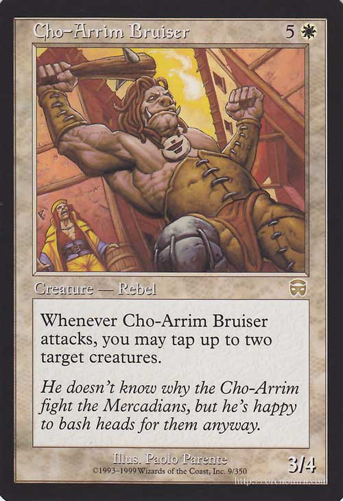 Magic: the gathering (MTG) Chor = Alim rampage mercadian-mask of /Cho-Arrim  Bruiser * English version / / MMQ / Magic: The Gathering