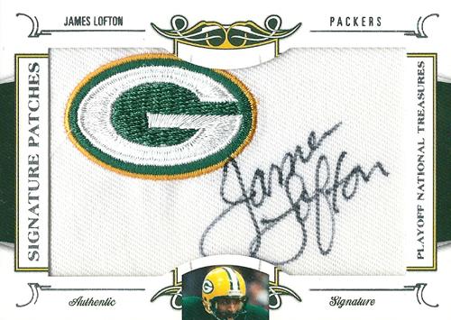 ジェームス・ロフトン NFLカード James Lofton 2008 National Treasures Signature Patches 51/53