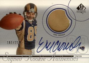 エリック・クラウチ Eric Crouch 2002 SP Authentic Signed Rookie Authentics Patch Autograph 250枚限定!