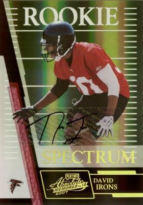 デイビス・アイロンズ Davis Irons 2007 Absolute Memorabilia Spectrum Autographs 10枚限定!
