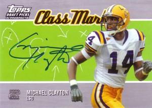 マイケル・クレイトン Michael Clayton 2004 Topps Draft Picks&Prospects Class Marks Autograph