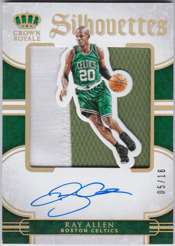 レイ・アレン 2015-16 Panini Preferred Silhouettes Prime Auto 05/16 Ray Allen