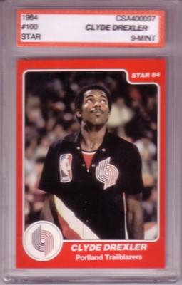 Clyde Drexler 1983/84 Star Extended Rookie Card CSA9 Mint!
