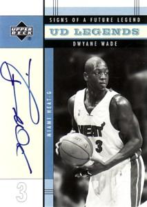 Dwyane Wade 2003/04 UD Legends Signs of a Future Legend