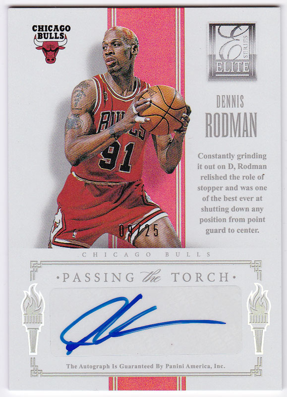 デニス・ロッドマン/メッタ・ワールド・ピース 2012/13 Panini Elite Series Passing The Torch Auto 09/25 Dennis Rodman/Metta World Peace