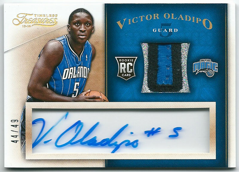 ヴィクター・オラディポ NBAカード Victor Oladipo 13-14 Panini Timeless Treasures Rookie Patch Autographs 44/49