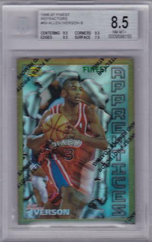 アレン・アイバーソン 1996/97 Topps Finest #69 Refractors BGS8.5 Allen Iverson