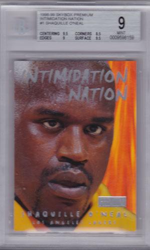 シャキール・オニール 1998/99 Skybox Premium Intimidation Nation BGS9 Shaquille O'Neal