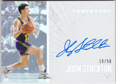 ジョン・ストックトン 2015-16 Panini Preferred Unparalleled Auto 10/50 John Stockton