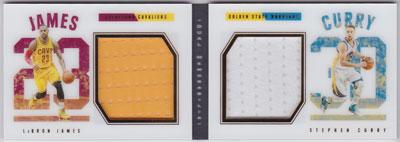 レブロン・ジェームズ/ステフィン・カリー 2015-16 Panini Preferred Dual Jersey 105/199 Lebron James/Stephen Curry