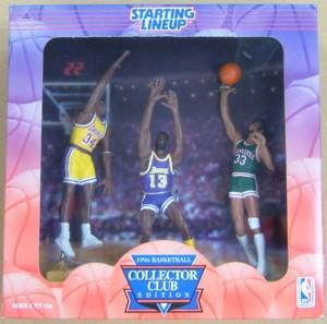 NBA ケナー・フィギュア 1996COLLECTOR CLUB EDITION 3体セットS.オニール/W.チェンバレン/K.アブドゥル・ジャバー