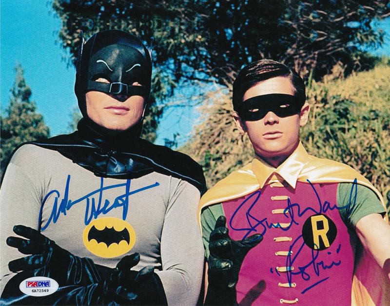 「バットマン」アダム・ウェスト(バットマン)&バート・ウォード(ロビン)直筆サインフォト クローズアップ
