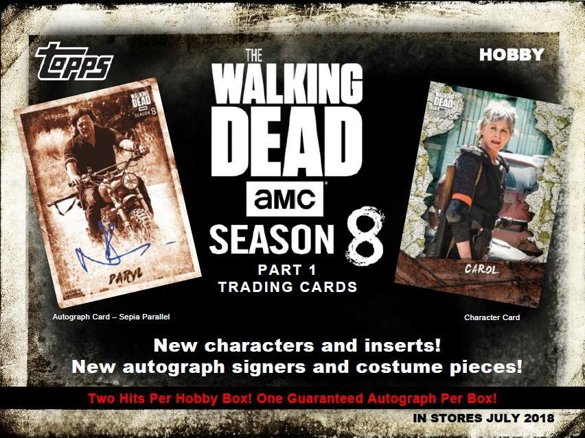 ウォーキング・デッド 2018 Topps The Walking Dead Season 8 トレーディングカード 送料無料 7/11入荷!!