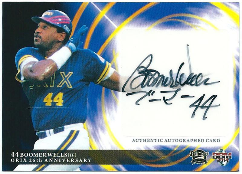 ブーマー・ウェルズ 2014 オリックス 25周年記念カード 直筆サインカード 99/120