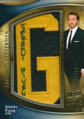 ジェレミー・ピヴェン MLBカード Jeremy Piven 2009 UD Icons Celebrity Lettermen Autographs 10/10